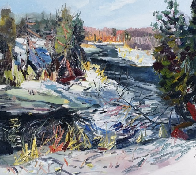 , 'Spring Melt, Burnt River,' 2018, Canadian Fine Arts