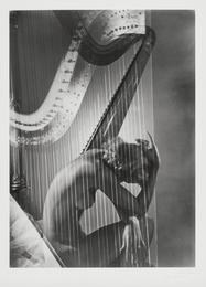 Lisa Fonssagrives-Penn with Harp, Paris