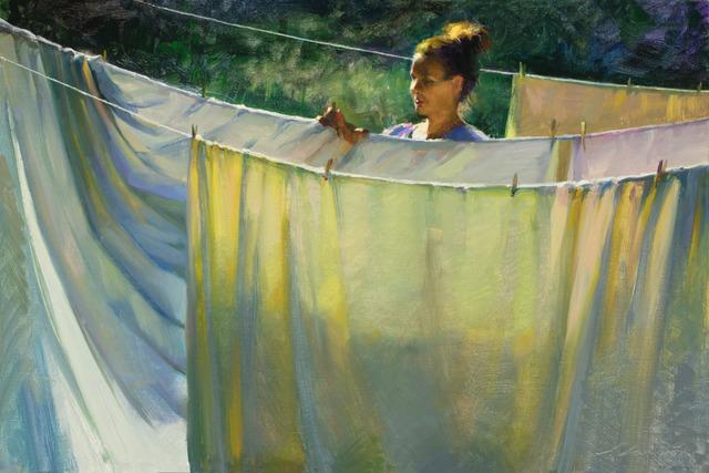 , 'Laundry Morning,' 2000-2019, Helena Fox Fine Art