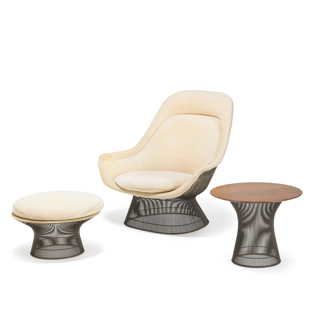 Warren Platner, 'Lounge chair with ottoman and table, New York', Rago/Wright