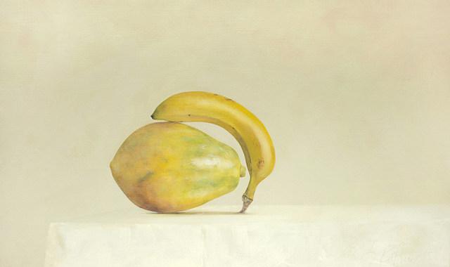 , 'Papaya and Banana,' 2015, Galerie Huit