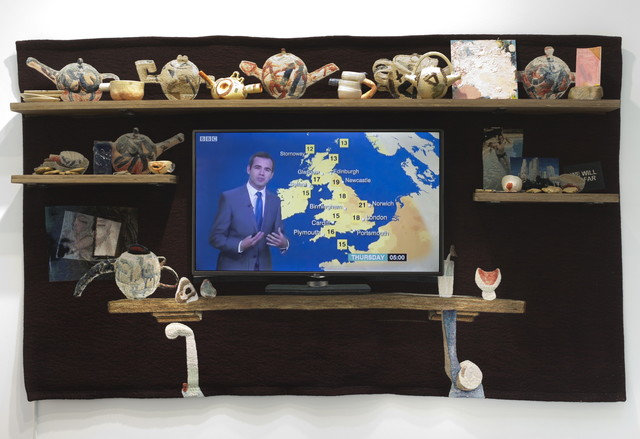 , 'The TV Mantelpiece,' 2016, Galerie Nathalie Obadia