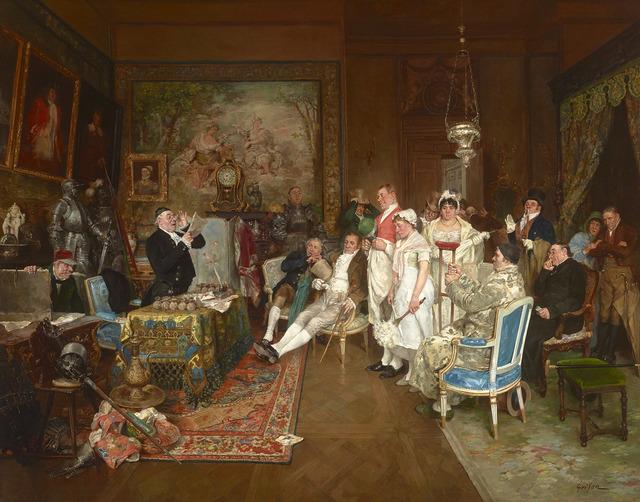 François Adolphe Grison, 'Reading the Last Will (Disinherited)', 1845-1914,  M.S. Rau Antiques