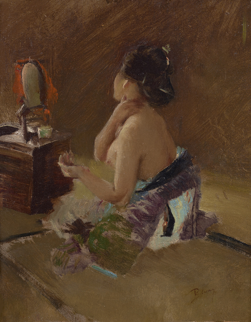 Robert Frederick Blum, 'Japanese Lady at her Toilet ', ca. 1890-1993, Debra Force Fine Art