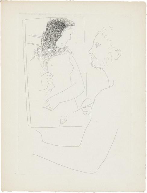 Pablo Picasso, 'PEINTRE DEVANT SON TABLEAU (BLOCH 92)', 1927, Doyle