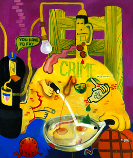 Peter Saul, 'Criminal Being Executed', 1964, Blanton Museum of Art