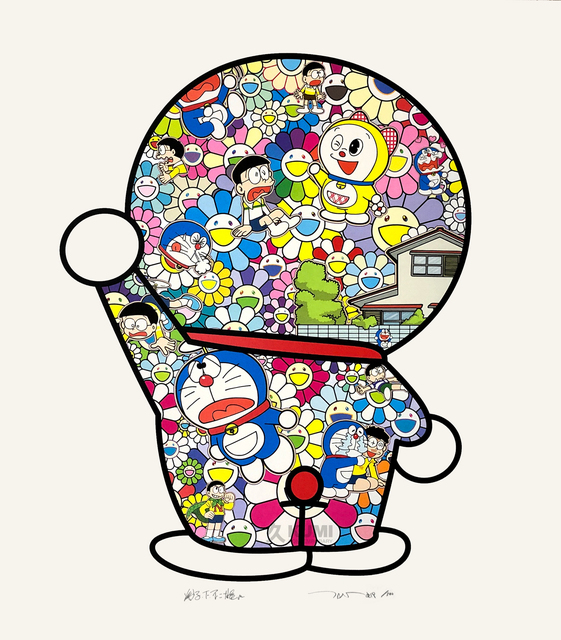 Takashi Murakami, 'Takashi Murakami x Doraemon: Doraemon in the Field of Flowers', 2019, Kumi Contemporary / Verso Contemporary
