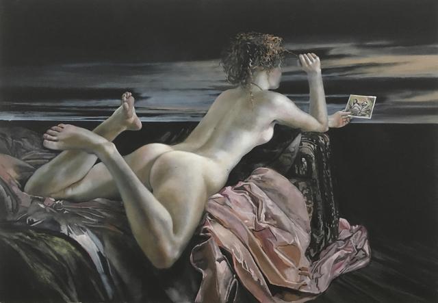 , 'Atelierbild Boucher, Liegendes Mädchen,' 2017, Joerg Heitsch Gallery