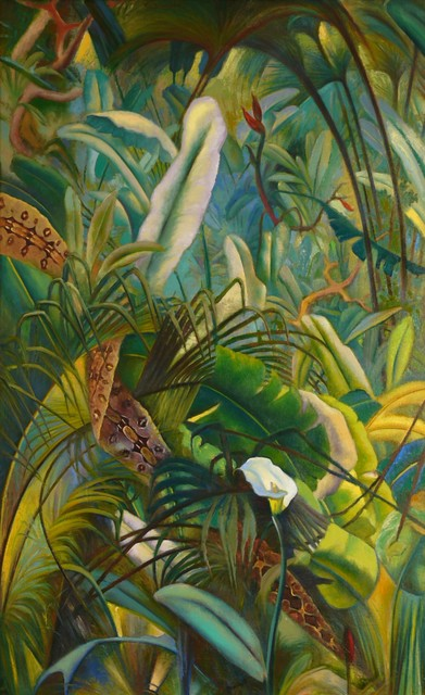 Ross Braught, 'Jungle', 1948, Painting, Oil on canvas, Private Collection, NY