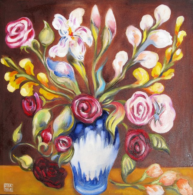 , 'Bouquet on Brown,' 2015, Abend Gallery