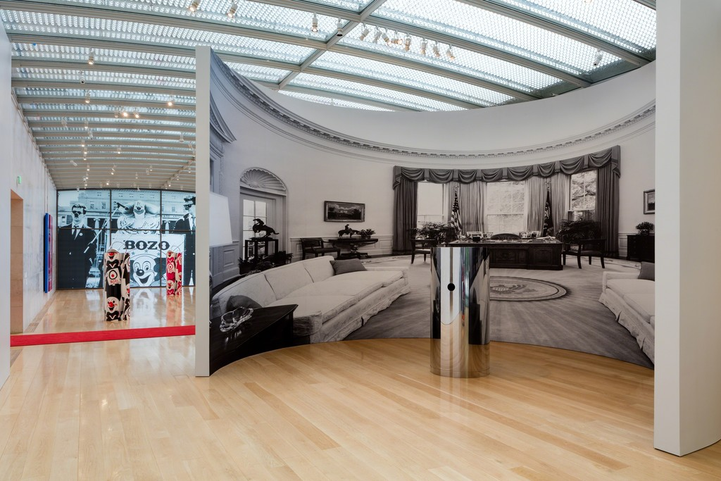 Installation view, Kathryn Andrews: Run for President, Nasher Sculpture Center, September 10, 2016 - January 08, 2017. Photo: Kevin Todora.