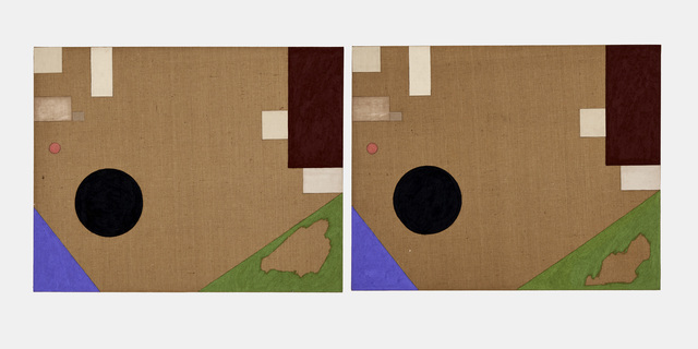 James hd Brown, 'Twin Painting #1 (7 Sided Room)', 2018, Galería Hilario Galguera