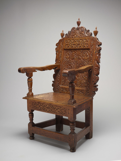 William Searle, 'Joined Great Chair', 1663-1667, Bowdoin College Museum of Art