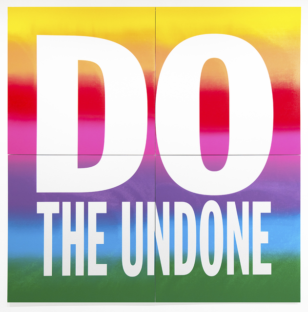 John Giorno, 'DO THE UNDONE', 2019, Sperone Westwater