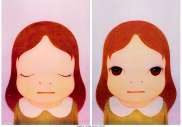 Cosmic Girl (Eyes Shut, Eyes Open) (two works)