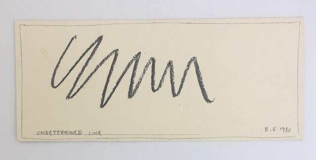 Bernar Venet, 'Undetemined  Line', 1980, Michael Lowe Collection