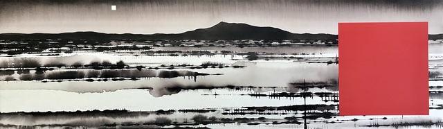 David Middlebrook, 'Floodplain, China and I', 2019, Painting, Ink and acrylic on canvas, Art Atrium