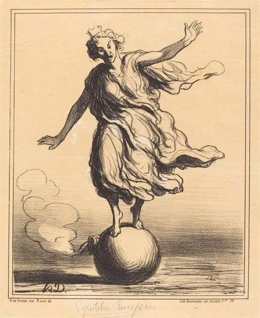 Honoré Daumier, 'Équilibre Européen', 1867, National Gallery of Art, Washington, D.C.