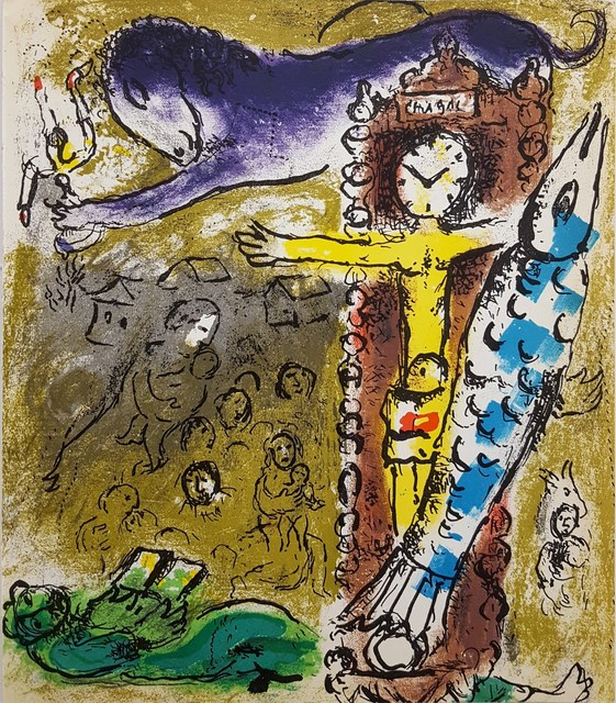 Marc Chagall, 'Christ in the Clock', 1957, Print, Lithograph, Graves International Art