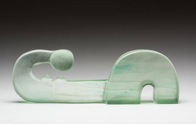 , 'Green Cast Figure,' 2016, Ken Saunders Gallery