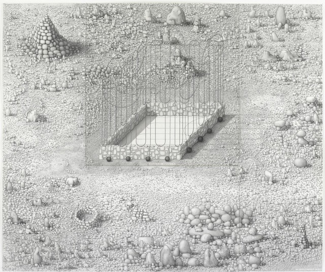 Paul Noble, 'Family is Infinity (or, Hard Labour)', 2009-2010, Drawing, Collage or other Work on Paper, Pencil on paper, Gagosian