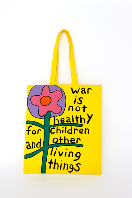 , 'War Is Not Healthy Tote,' 2018, Galerie Droste