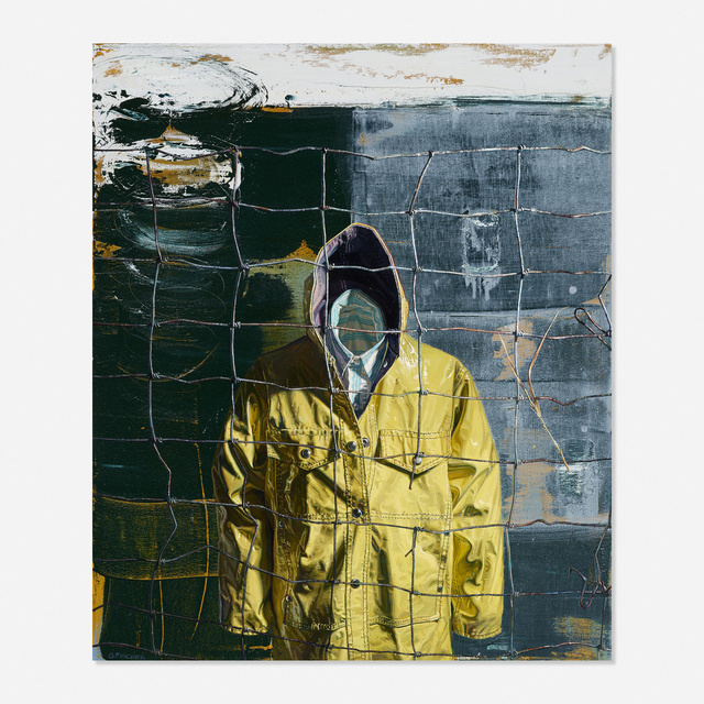 George Fischer, 'Protection', Painting, Oil on canvas, Rago/Wright