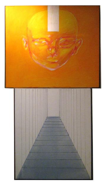 , 'Dos atmósferas y un personaje amarillo,' 1965, Vasari