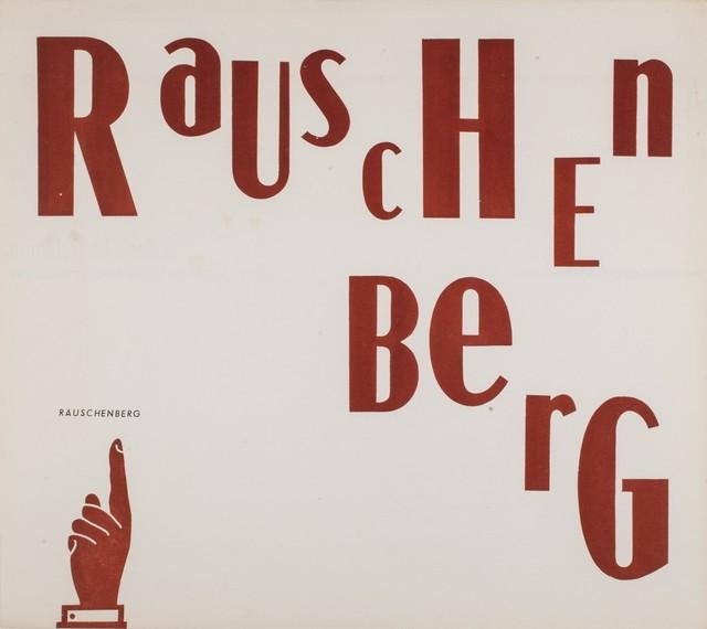 Robert Rauschenberg, 'Solo exhibition', 1959, Finarte