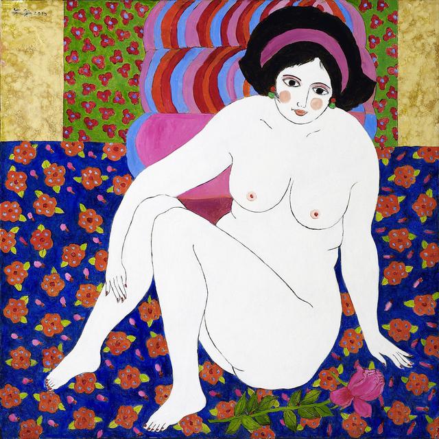 , 'Nude on flower carpet,' 2010, Metaphysical Art Gallery