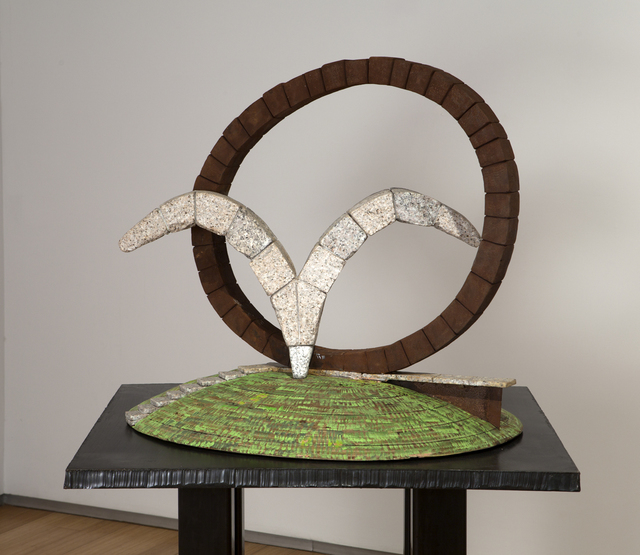 , 'Wings of Stone and Rings of Steel (small of larger public art sculpture),' 2008, Khawam Gallery