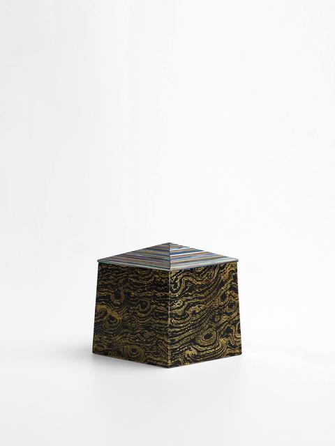 , 'Gold lepidoptera diamond shape small box,' 2019, Katie Jones