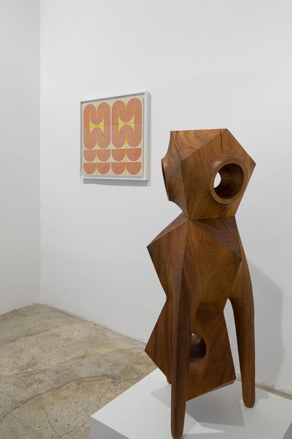 Aleph Geddis, 'Guardian', 2020, Sculpture, Hand-carved Monkeypod wood, Massey Klein Gallery