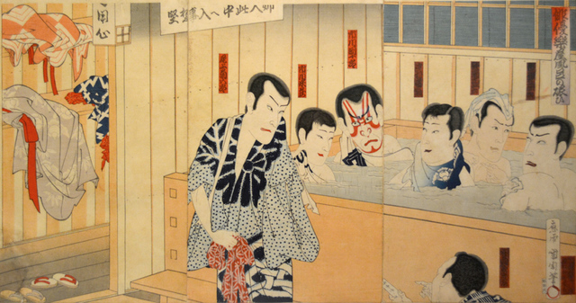 Toyohara Kunichika, 'Actors After A Performance', ca. 1880, Ronin Gallery