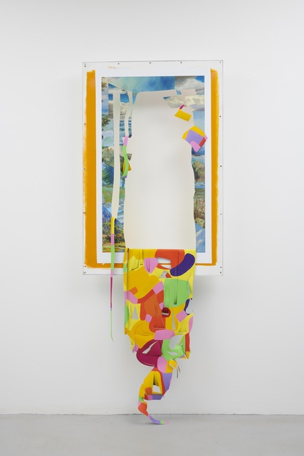 , 'Sunset Peacock (cutout),' 2018, Josh Lilley