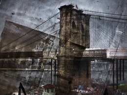, 'Rooftop View of The Brooklyn Bridge,' 2011, Jackson Fine Art