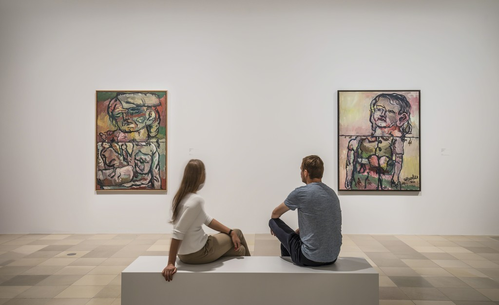 "Exhibition view ""Georg Baselitz. The Heroes"" Photo: Städel Museum (2016)"