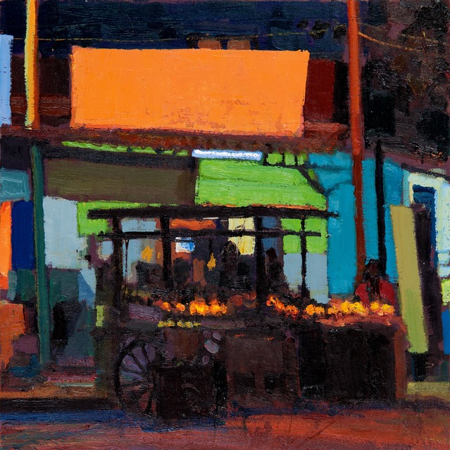 , 'Fruit Stall at Night, Pondicherry,' 2018, John Martin Gallery