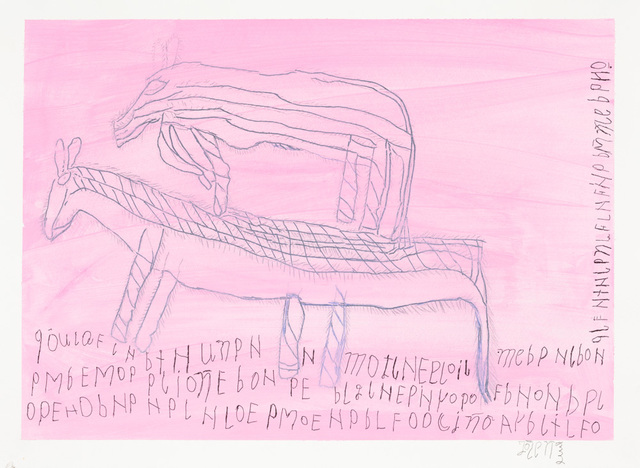 , 'Untitled (2 Caballos on Pink),' 2013, Creativity Explored