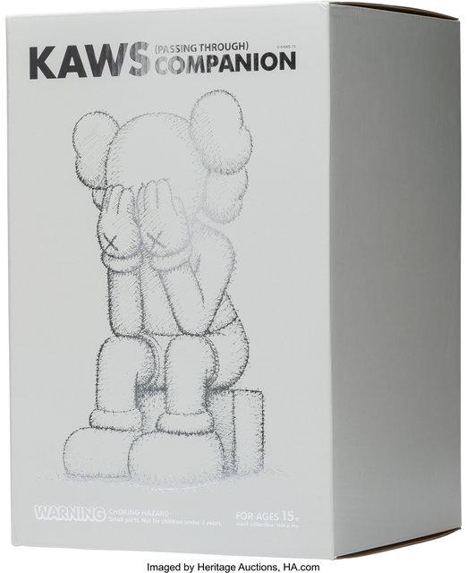 KAWS, 'Passing Through Companion (Grey)', 2013, Sculpture, Painted cast vinyl, Heritage Auctions