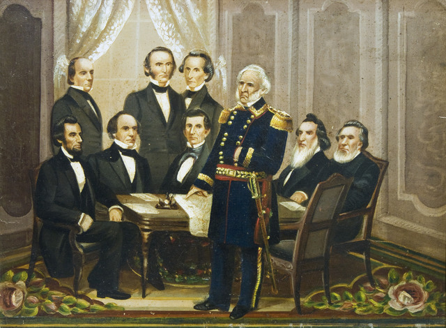 , 'Lincoln's First Cabinet,' ca. 1861, Galerie St. Etienne