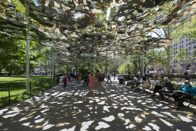 Teresita Fernández, 'Fata Morgana', 2015, Installation, Aluminum composite and steel, six parts, Madison Square Park