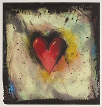 , 'Hand-Colored Viennese Heart IV,' 1990, Posner Fine Art