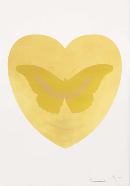 , 'I Love You - gold leaf, oriental gold, cool gold ,' 2015, Paul Stolper Gallery