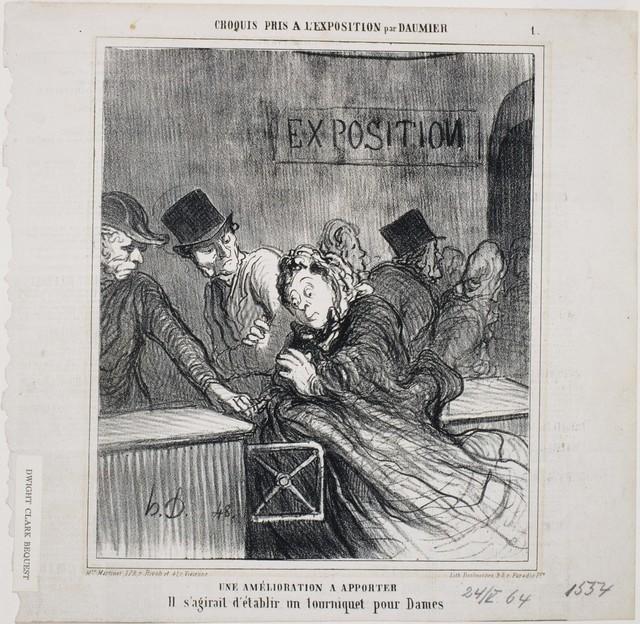 Honoré Daumier, 'Croquis pris à l'Exposition: Une amélioration à apporter', 1864, Phillips Collection