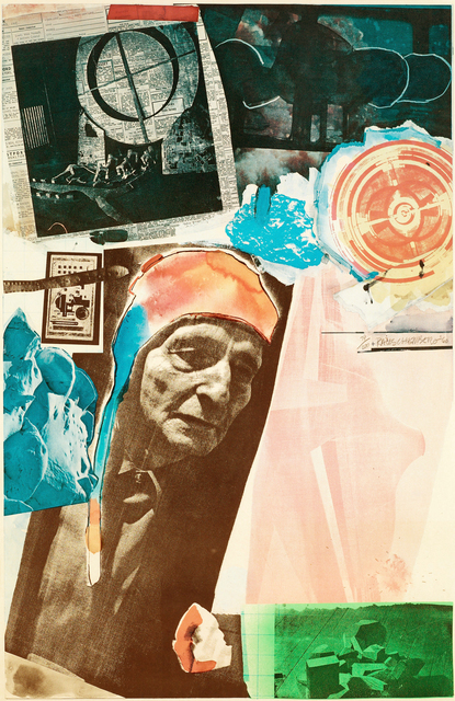 Robert Rauschenberg, 'Homage to Frederick Kiesler', 1966, Print, Offset lithograph in colors, Vohn Gallery