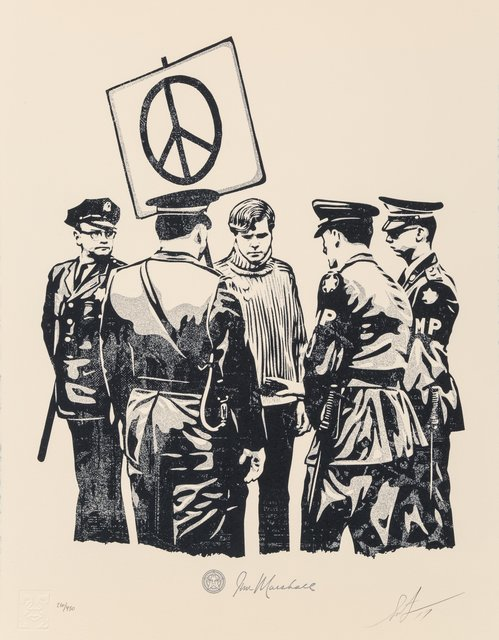 Shepard Fairey, 'Peaceful Protestor', 2017, Heritage Auctions