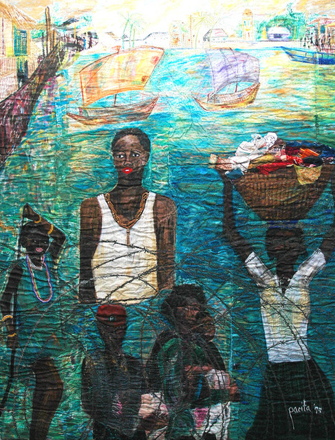 , 'Haitians waiting at Guantanamo Bay,' 1994, Pacita Abad Art Estate