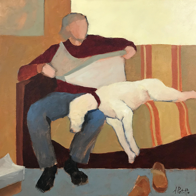 , 'Man and Dog,' 2018, Addison Art Gallery