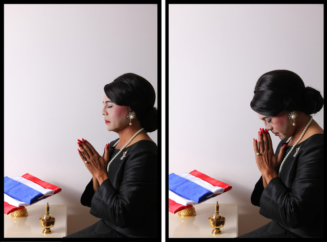 , 'Self-Portrait with Double South Sea Pearl Earrings, Diptych,' 2013, 10 Chancery Lane Gallery